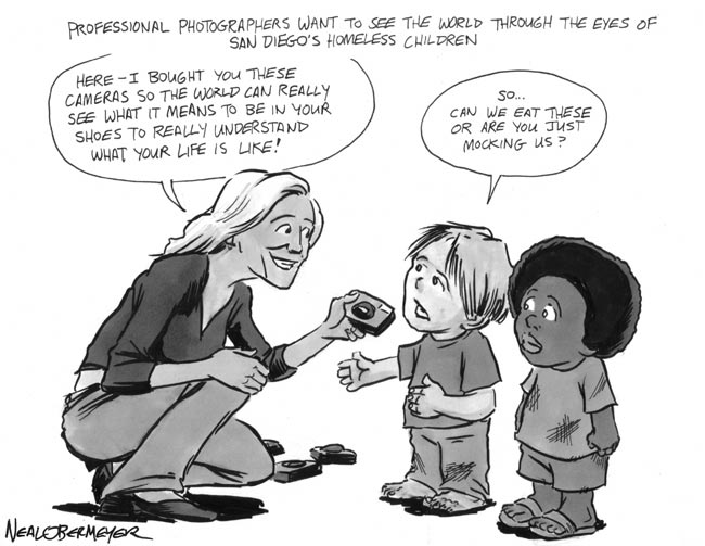 homeless children cameras