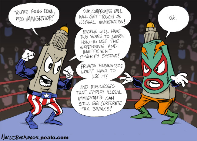 unicameral illegal immigration luchador lucha libre
