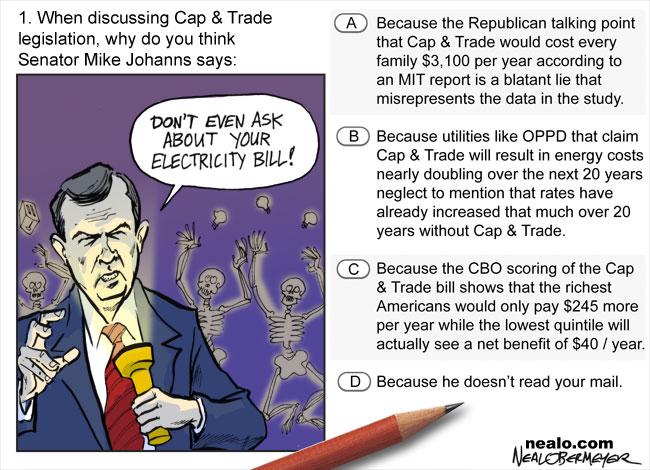 senator mike johanns cap and trade global warming electricity bill energy