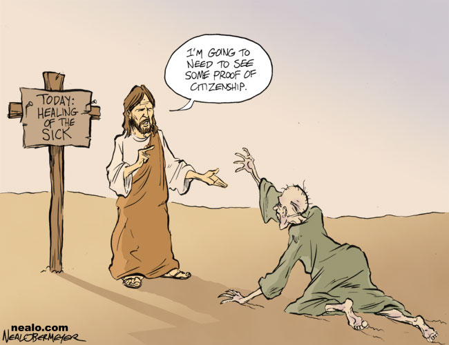 jesus illegal immigrants healthcare
