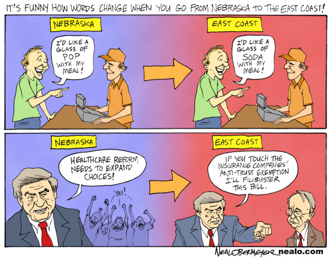 ben nelson harry reid health care healthcare soda pop anti-trust exemption insurance companies monopoly monopolies