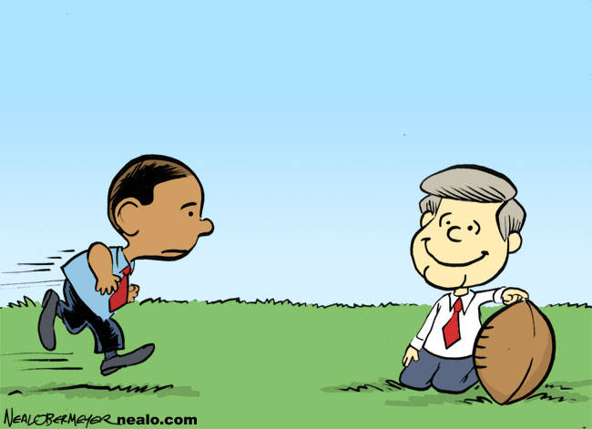barack obama ben nelson healthcare reform charlie brown lucy