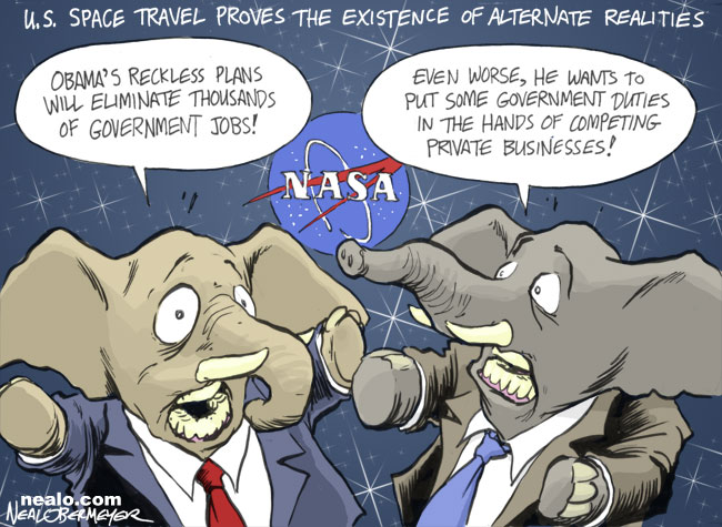 nasa president barack obama space travel republicans alternate realities parallel universe