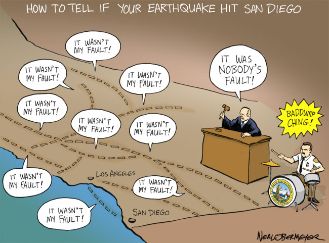 san diego earthquake fault lines judge