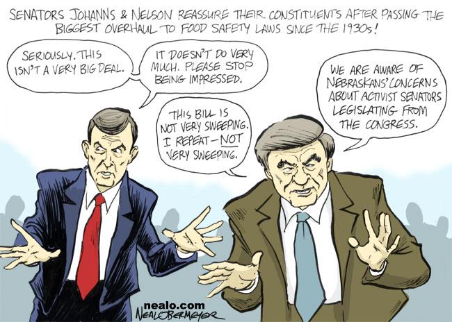 senator ben nelson mike johanns food safety regulations
