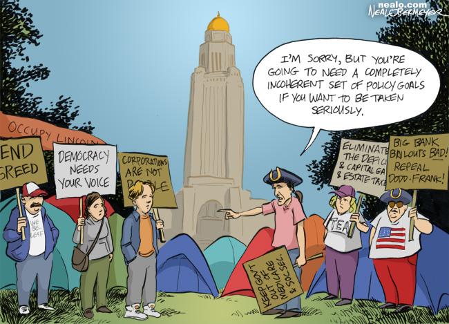occupy lincoln tea party