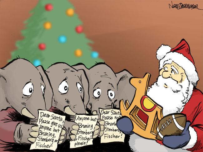 republican senate primary race jon bruning don stenberg deb fischer santa claus