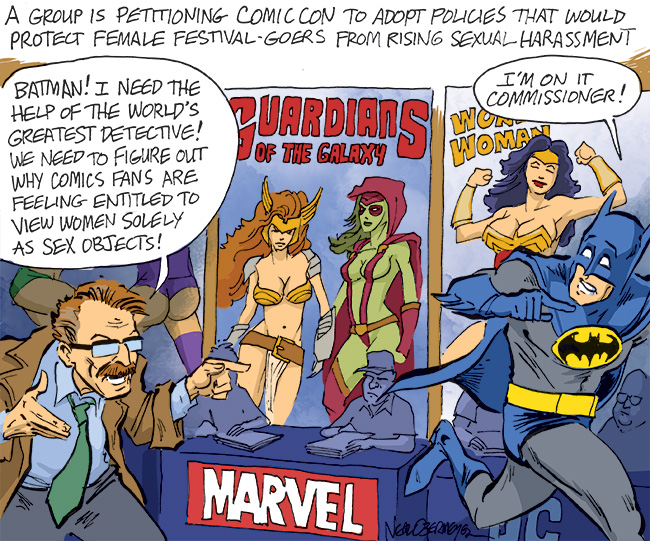 comic-con sexual harassment batman commissioner gordon