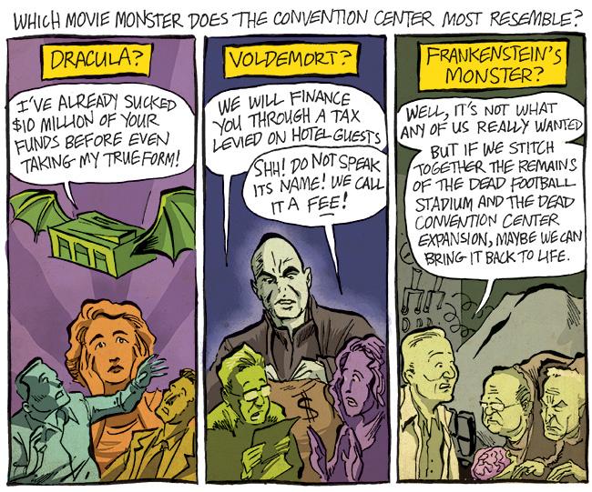 convention center horror movie monster voldemort frankenstein