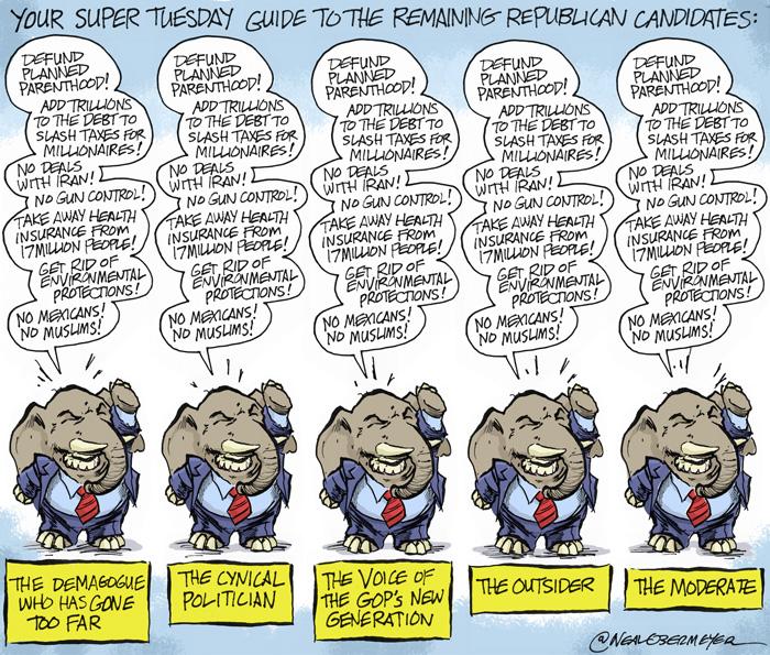 republican presential candidates trump kasich rubio cruz
