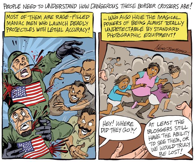 border patrol crossers caravan immigrants immigration